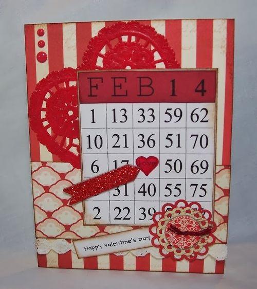 Feb 14 - Debbie fisher - Valentines day bingo set