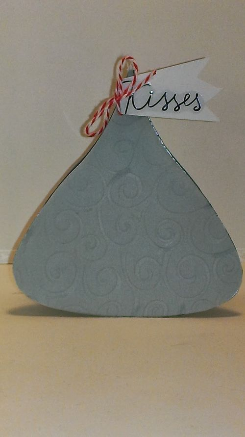 Kisses - Hershey Kiss shaped card - Chauntelle Lee