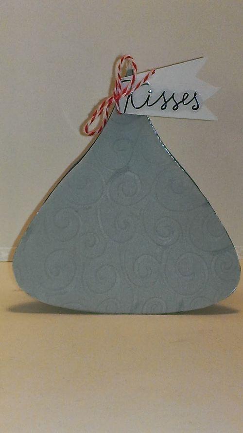Kisses - Hershey Kiss shaped card - Chauntelle Lee