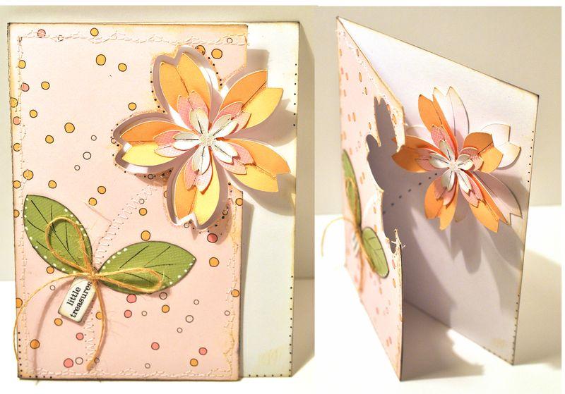 Открытки внутри с цветами