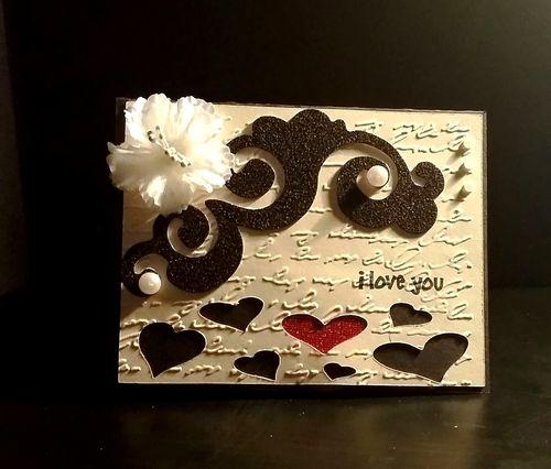 VALENTINE WINDOW CARD TOPS - Reketa Brown