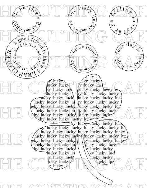 LUCKY SENTIMENT CLOVER SET
