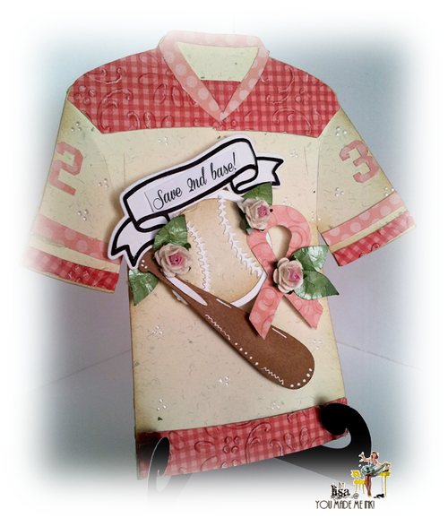 Lisa Minckler - Baseball and bat shaped card - Think Pink - Breast Cancer T-shirt set