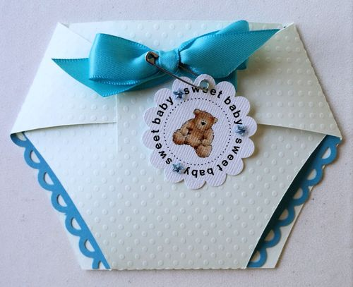 Diaper shaped card set - Dee
