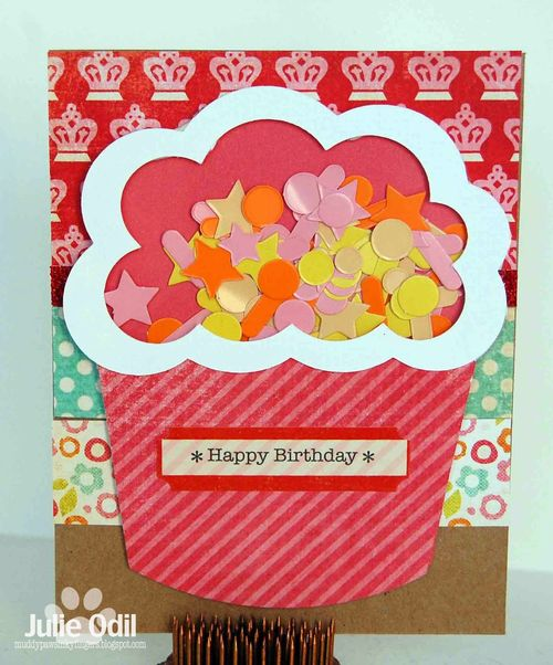 HAPPY BIRTHDAY - Julie Odil - Cupcake shaker card set