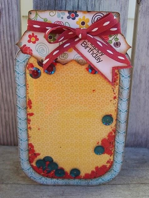 HAPPY BIRTHDAY - Debbie Fisher - jar shaker card