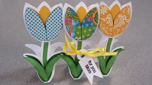Tulip shaped card - Tee Angel