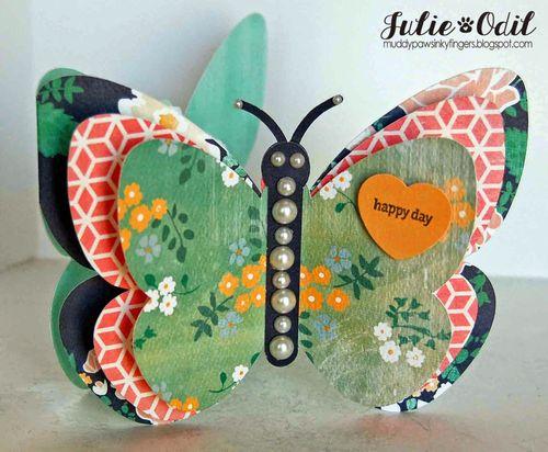 Butterfly shaped card - Julie Odil