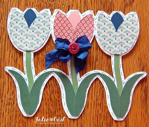 Tulip shaped card - Julie Odil