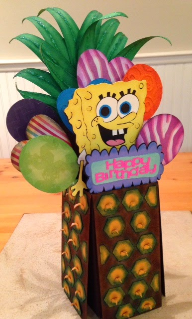 Spongebob box card - Tina Goodwin - Card in a box