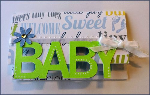 Baby word gift card holder - Dee Jones