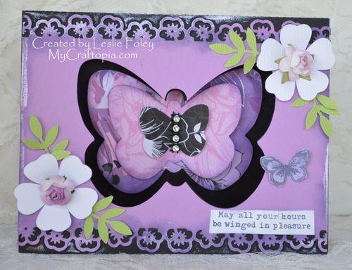 Layered butterflies - Lesie Foley