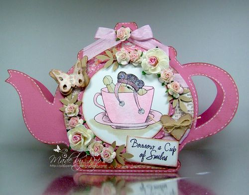 POPS ASSORTED TEAPOT SHAPED CARD