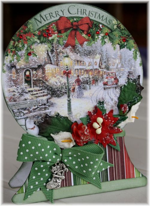 Karien Van der snowglobe shaped card