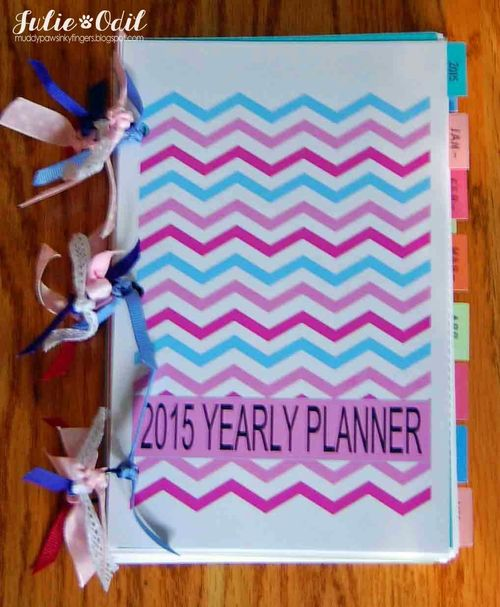 2015 YEARLY PLANNER - Julie Odil - The Planner set