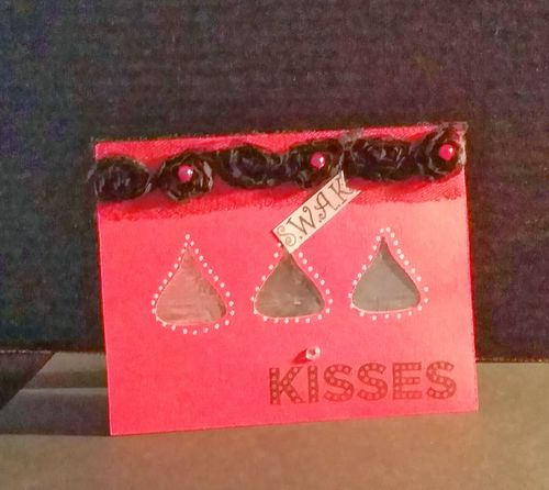Kisses - Reketa Brown - Hershey Kiss Window Card set