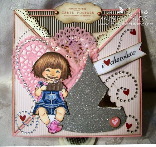 Hershey Kiss shaped card - Laura Love