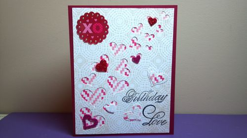 VALENTINE WINDOW CARD TOPS - Audrey Long