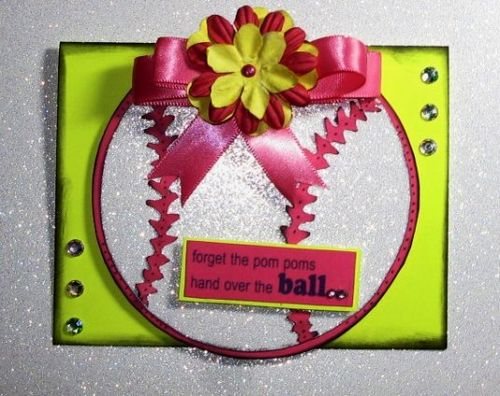 Baseball and bat shaped card - Cathryn Holzschuher