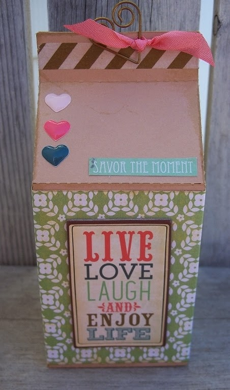 Live love laugh - Plain Milk Carton - Debbie Fisher