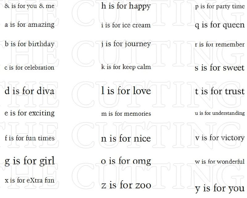 A-Z IS FOR SET 2