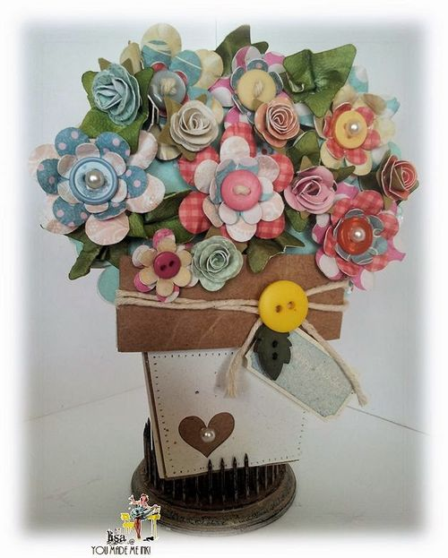 Flower pot shaped card - Lisa Minckler