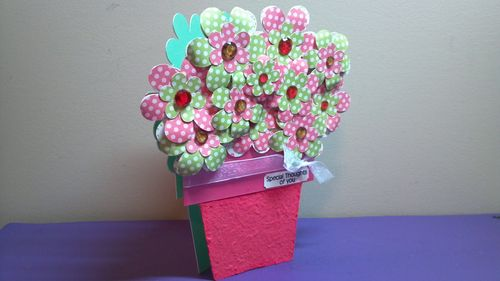 Flower pot shaped card - Audrey Long