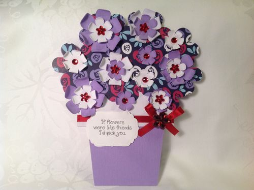 Katryce Townsend - flower pot shaped card