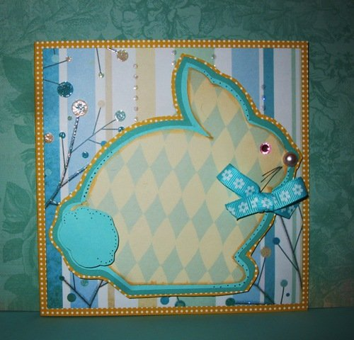 Easter bunny shaped card 2 - Cathryn Holzschuher