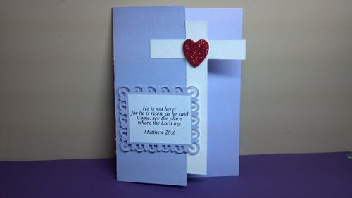 Bible Easter verses  and Cross shaped card - Audrey Long