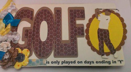 Golf word shaped card - chauntelle Lee