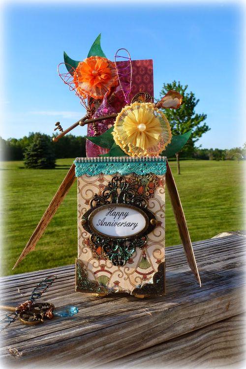 Happy Anniversary - Mitra Pratt - Card in a box and Card in a box embellishment set