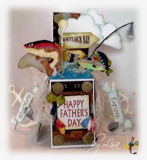 Happy fathers day - Lisa Minckler - Card in a box set