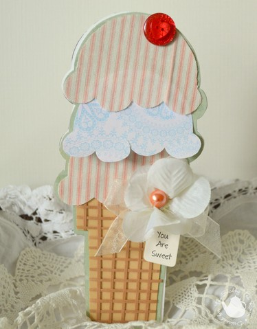 Rebekah Faries - Tall Ice Cream shaped card