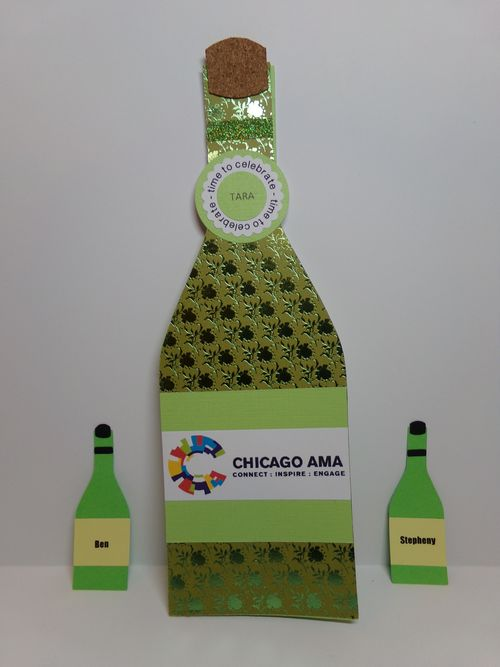WINE BOTTLE SHAPED CARD - Audrey Long