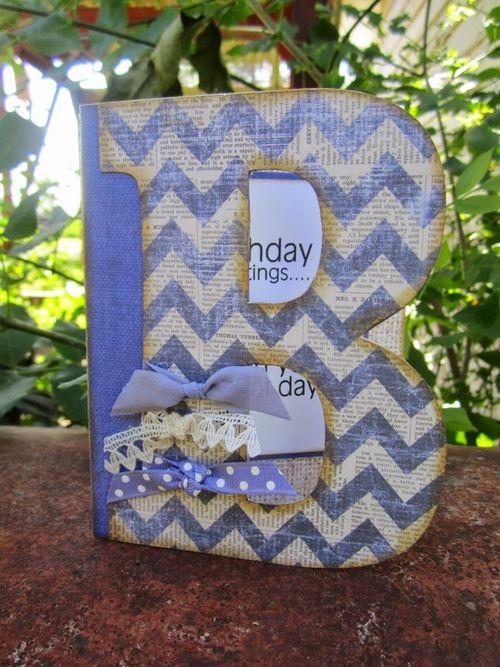 B letter set card fold - Debbie Fisher