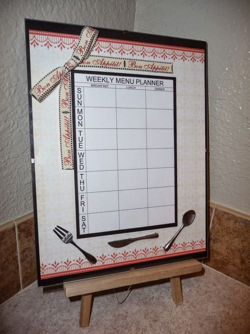 WEEKLY MENU PLANNER - JERI THOMAS - THE PLANNER SET