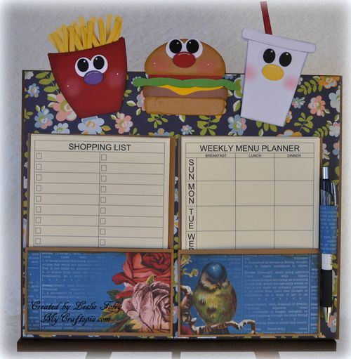 Menu planner - Leslie Foley -The planner set