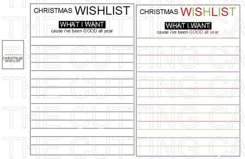 CHRTISTMAS WISH LIST