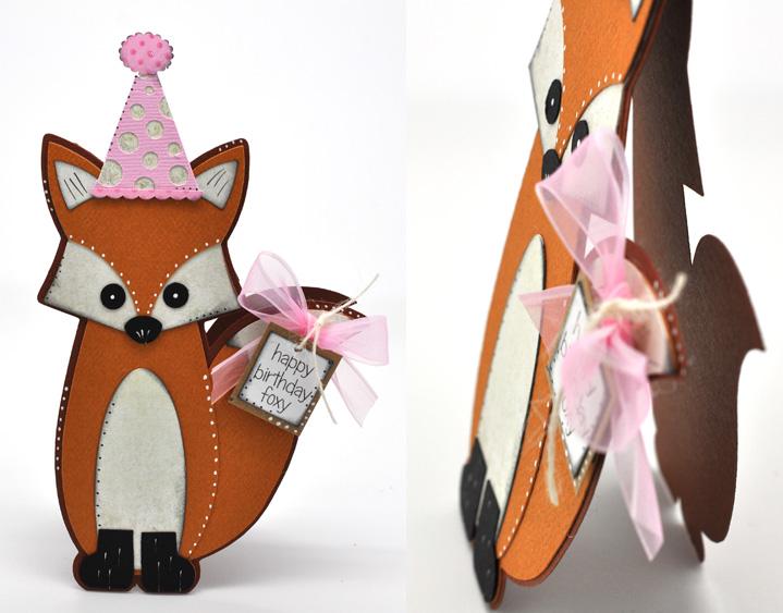 FOX SHAPED CARD