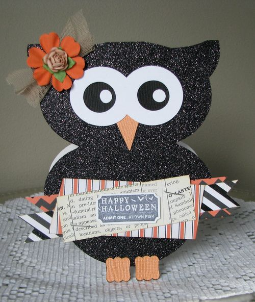 Alyson MacDonald - OWL SHAPED CARD