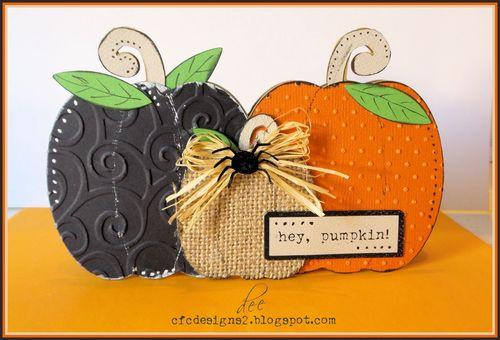 PUMPKIN TRIO SHAPED CARD SET - Dee Jones