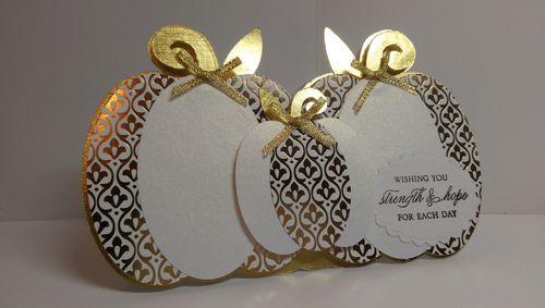 Pumpkin trio shaped card - Audrey Long