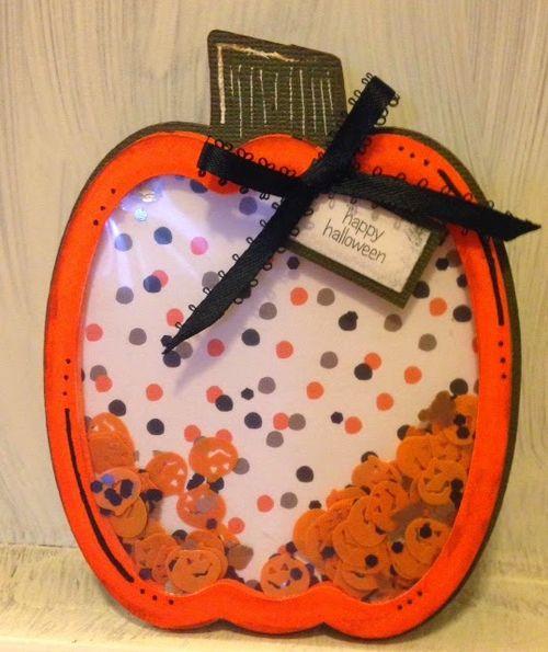 Halloween and Fall Shaker cards -Tina Goodwin