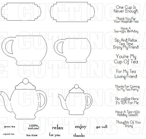 The Cutting Cafe\': TEAPOT SHAPED CARDS