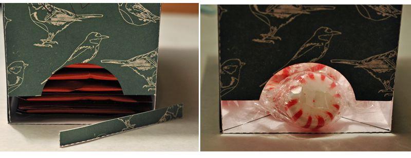 Tea box as candy