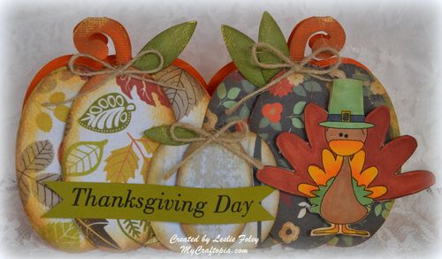 Pumpkin Trio - Thanksgiving Day - Leslie Foley