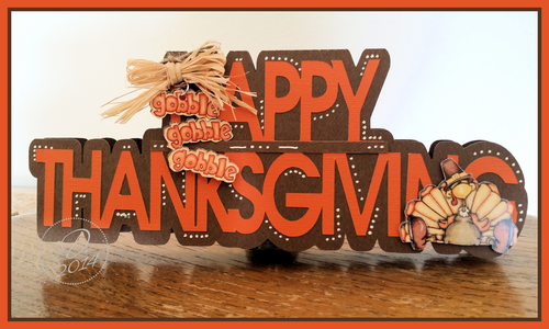 Happy thanksgiving word shaped card - Dee Jones