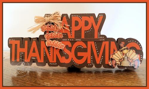Happy thanksgiving word shaped card - Dee Jones