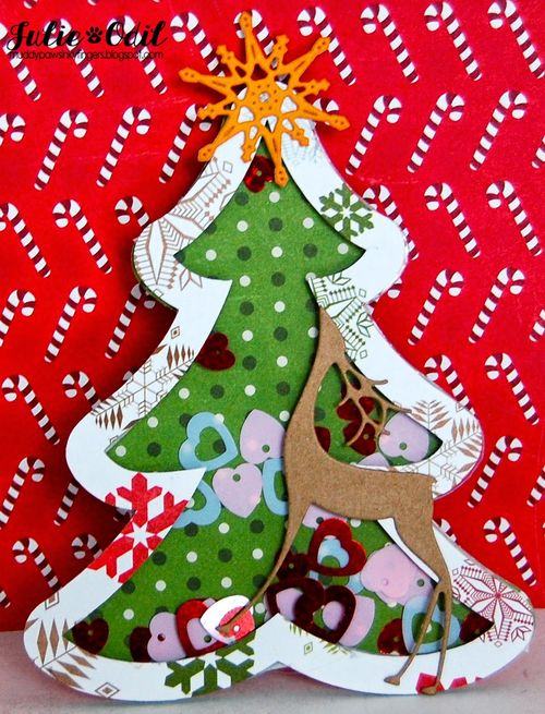 Christmas shape shaker card set - julie odil